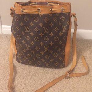 5747e6b6cad8 Louis Vuitton Bags - Vintage Leather Louis Vuitton Champagne Bag